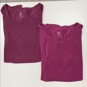 GapFit Magenta Breathe Long Sleeve T-Shirt